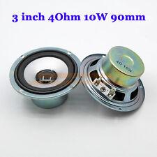 """2pcs 3"""" inch 4Ohm 4Ω 10W 20W Full-range Audio Speaker Subwoofer Loudspeaker"""