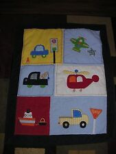 Circo Baby Boys Car Helicopter Boat Truck Comforter Blue Red White Quilt Blanket