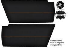 ORANGE STITCHING 2x REAR END SIDE PANEL VINYL COVERS FITS VW T25 T3 WESTFALIA