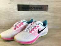 Women's Nike Air Zoom Pegasus 37 White/Pink/Multicolor CZ7990-100 Size 9