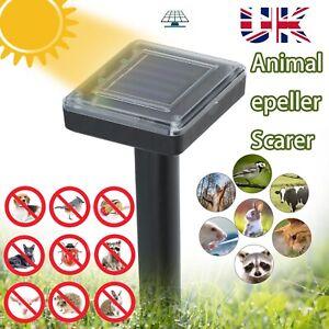 4pack Ultrasonic Solar Power Rat Pest Mole Repeller Mouse Snake Garden Repellent