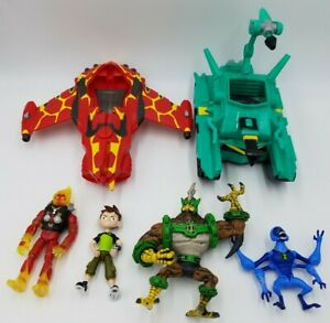 BEN 10 Action Figure Alien Force Lot Vehicle Heatblast Kickin Hawk Spider Monkey