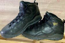 Nike Air Jordan X 10 Retro Nyc 310806-012 Sz 4.5 Youth Black/Black Gold