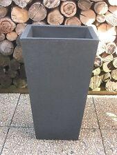 Pflanzkübel Blumenkübel 35 x 35cm Kunststoff  dunkelgrau - schieferoptik / pyra
