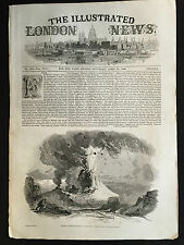 Front Cover of The Illustrated London News April 18th 1846, Vesuvius Print A3BK5