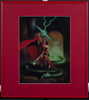 Clyde Caldwell - Epic Illustrated Dec 1984 Art - Matted Framed Signed 53/100