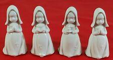 Set of 4 Vintage Imports Enesco White Porcelain Catholic Nuns Japan
