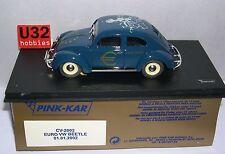 qq PINK KAR CV2002 VW BEETLE ESCARABAJO EURO 01/01/2002 BLUE EEC MAP & STARS
