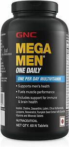 GNC Mega Men One Daily Multivitamin for Men, 60 Count, Take A Day 19...