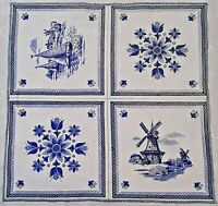 VINTAGE AUTHENTIC NEDERLAND ART SOUVENIR BLUE WHITE COTTON KITCHEN TEA TOWEL