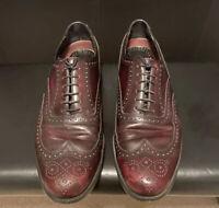 Florsheim Burgandy Leather Wingtip Dress Shoes Men's Size 10.5 D