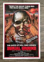 "BURIAL GROUND NIGHTS OF TERROR - ORIGINAL 1981 ONE SHEET MOVIE POSTER 27X41"""