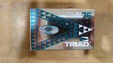 TRIAD CD-IV 76 Blank Cassette Tape Pure Metal New Sealed NOS Quantity of 5