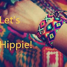 Friendship Bracelets Handmade Woven Rope Strings Hippy Boho Embroidery Bracelets