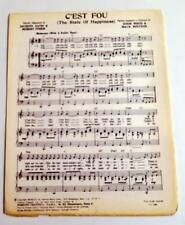 Vintage partition sheet music rita cadillac: it is crazy * 60's