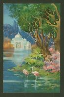 Colourful Eastern Influenced  - Vintage Printed Postcard