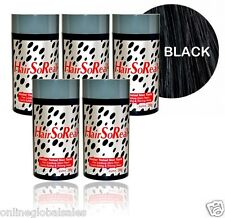 5 x HSR,Hair So Real BLACK for Bald spots,Thinning & Receding Hair, NEW!  FRESH!