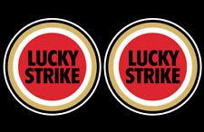 2 Lucky Strike sponsor stickers rally race motorcycle honda moto gp bike decals