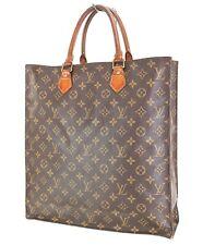 Authentic Louis Vuitton Sac Plat Monogram Tote Shopping Bag Purse #35296