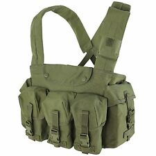 Condor CR Tactical Chest Rig Vest w/ 7 Pocket Rifle Magazine Pouches OD Green