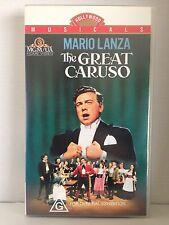 THE GREAT CARUSO ~ MARIO LANZA ~ RARE  VHS VIDEO ~ FREE POST
