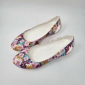Crocs Iconic Comfort Women Size 9 Multicolor Floral Ballet Flats