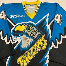 Vintage Springfield Falcons Minor League Hockey AHL Jersey Adult XXL Autograph