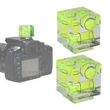 2 x Triple 3 Axis Hot Shoe Spirit Level Bubble on Camera For Canon Nikon Pentax