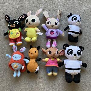 8 Bing soft toys job lot bundle set Pando Hoppity Voosh Flop Sula Coco Charlie