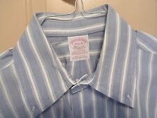 BROOKS BROTHERS - MAKERS - ALL COTTON- BUTTON DOWN-STRIPES-MADE IN USA-15 1/2-4