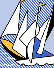 Lichtenstein Roy Sailing Boats Canvas Print 16 x 20   #4172