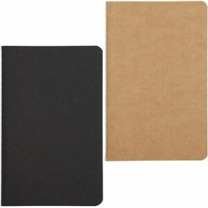 """24Pack Pocket Notebooks Kraft Cover Notepads Notebooks Lined Paper, 3.5x5.5"""""""