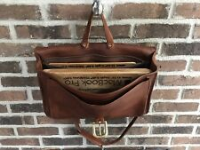 VINTAGE 1980's ONE OF A KIND COGNAC BASEBALL GLOVE LEATHER BRIEFCASE BAG R$998