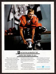 1992 Zurich Canada Vintage Original Print AD with WAYNE GRETZKY Hockey LA Kings