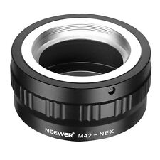 Neewer Black Lens Mount Adapter for M42 Lens to Sony NEX E-Mount Camera