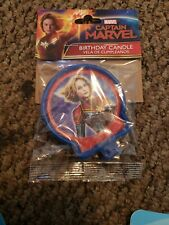 CAPTAIN MARVEL CAKE CANDLE ~ Birthday Party Supplies Decoration Blue Comics Red