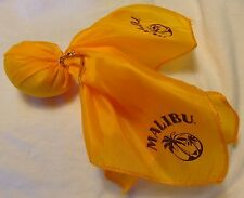 MALIBU Rum Yellow Football Penalty Flag - Scarf w/ weight - Palm Tree Logo