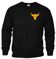 Brahma Bull Sweatshirt Pocket The Rock Project Gym Bodybuilding MMA Workout Top