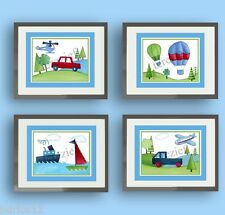 Transportation Boat Airplane Car Truck Children Baby Boy Nursery Kids Art Decor