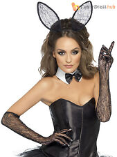 Ladies Fever Lacy Bunny Kit Adults Sexy Rabbit Fancy Dress Womens Easter Outfit
