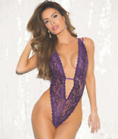 Shirley of Hollywood Deep V-Plunge Teddy Lingerie - Women's #96631