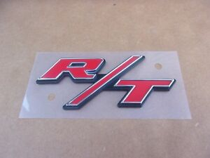 GENUINE MoPar 2006-2019 Dodge Charger Challenger Red R/T EMBLEM Nameplate