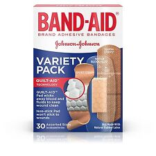 Band-Aid Variety Pack Active Lifestyles Adhesive Assorted Bandages 30 Count