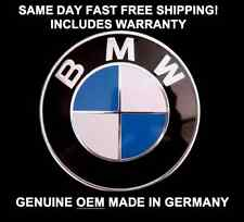 Genuine OEM BMW 82mm Hood Trunk Roundel Emblem Badge Aluminum M3 M5 W/ Grommets
