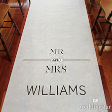City Style PERSONALIZED Aisle Runner Wedding Ceremony Decoration