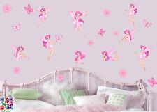 Fate dei fiori e farfalle-pacco da 22 stampato Wall Art Adesivi Ragazze FATA