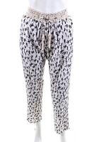 Skemo Womens High Waist Skinny Slim Leg Pants White Black Size Medium