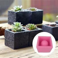 DIY Flowerpot Silicone Mold Square Cement Crafts Plant Concrete Vase Home Decor