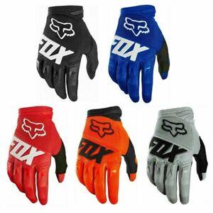 FOX MTB Gloves Motocross Mountain Bike BMX Full Finger Cycling Riding