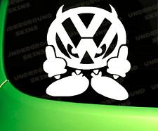 VOLKSWAGON VW DEVIL MAN FUNNY CAR STICKER FUNNY EURO DUB VINYL DECAL CADDY GOLF